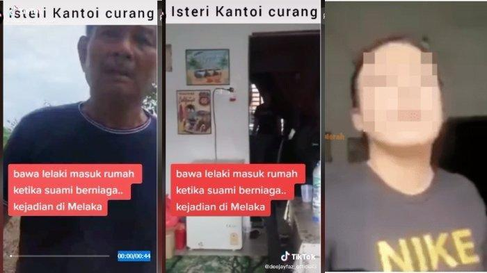 Video viral yang beredar saat suami di Malaysia memergoki istri selingkuh