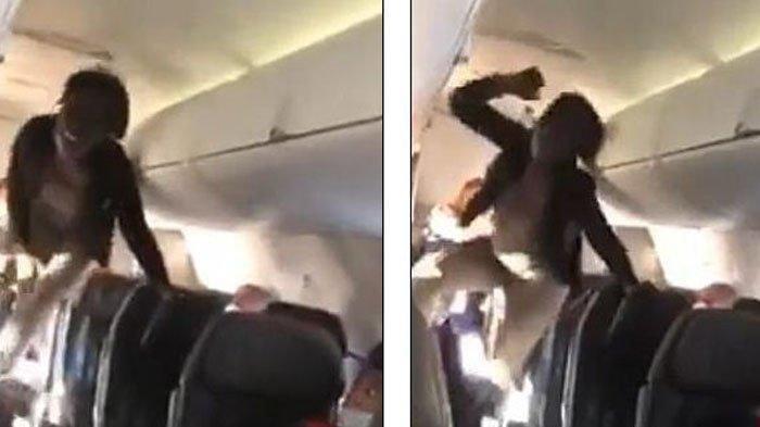 Video Wanita Kesurupan Saat Naik Pesawat,  Lompat-lompat & Berteriak Setelah Keluar dari Kamar Mandi