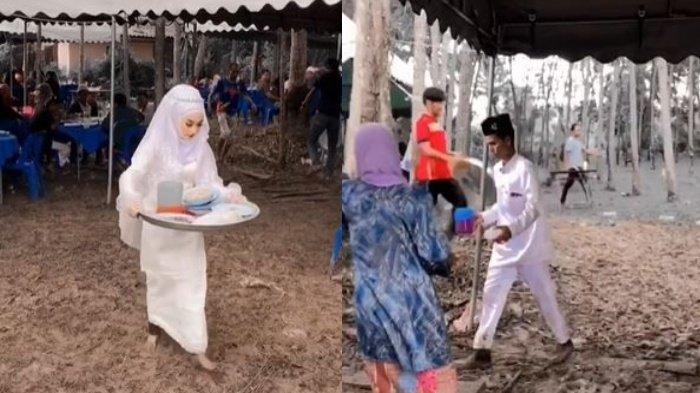 Angkat Piring Kotor dan Kaki Becek, Aksi Pengantin Viral, hingga Disebut Babu di Pernikahan Sendiri