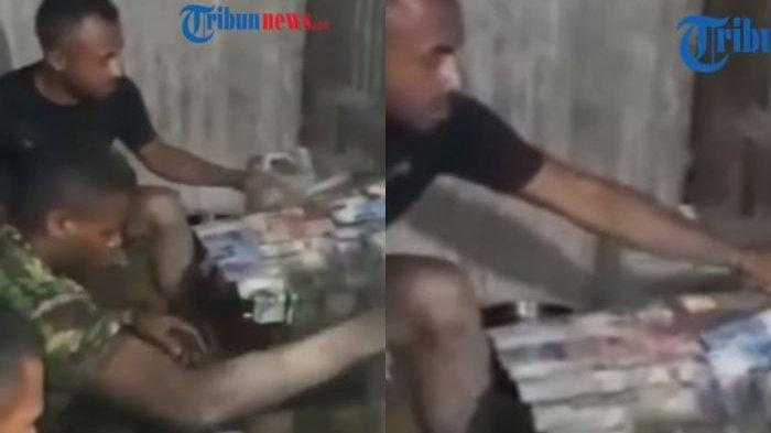 Viral di Medsos, 3 Prajurit TNI AD Cuci Uang Jutaan Rupiah, Dari Lokasi Korban Lumpur Banjir Bandang