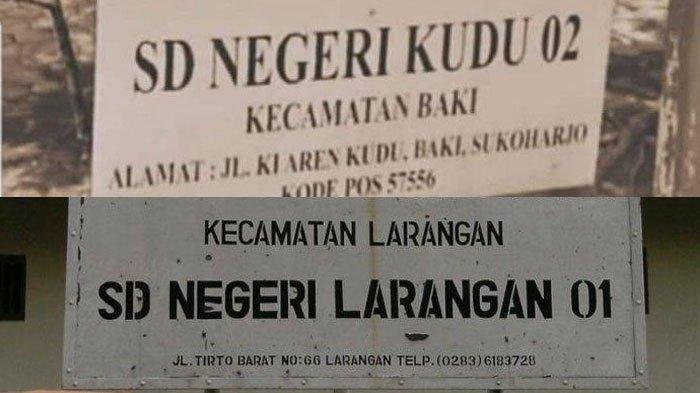 Viral di WhatsApp (WA) & Medsos Nama SD Kudu 02 & SD Larangan 01, Dipicu Guyonan Jelang Pilpres 2019