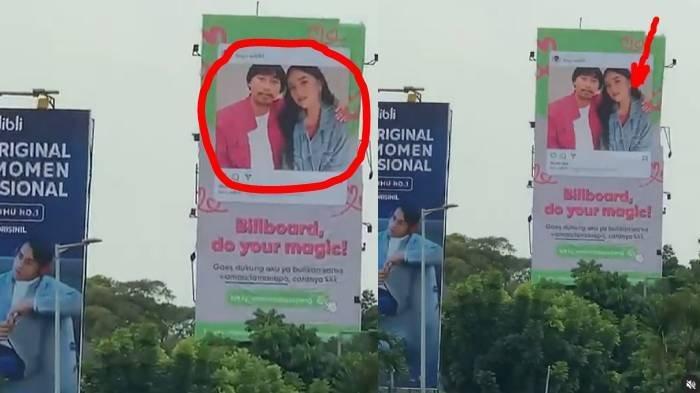 Viral 'Mantan Pacar' Amanda Manopo Pasang BillboardNgajak Balikan, Aksi Pria Berkumis Ini Disorot