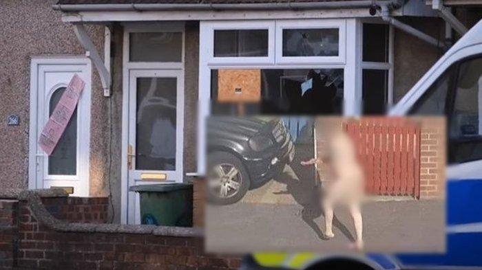 Viral Foto Pria Tanpa Busana Lari di Jalanan Minta Pertolongan, Warga: Keluar Rumah Lewat Jendela