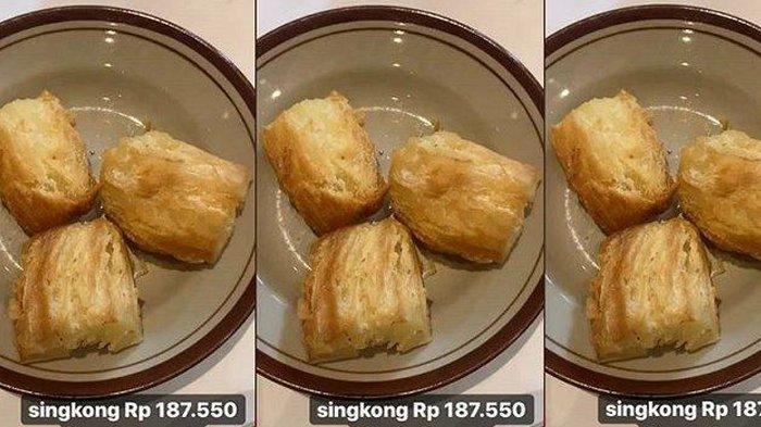 Viral Harga Makanan 3 Potong Singkong Goreng Dibandrol Rp 187 Ribu, Pengunggah Tulis 2 Kata Begini