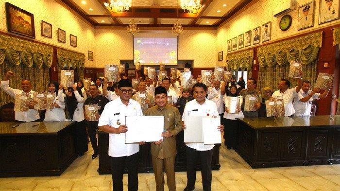 Wali Kota Malang dan Para Kepala Dinas Tandatangani Perjanjian Kerja 2019