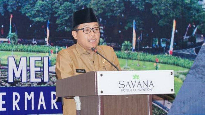 Wali Kota Malang Sutiaji saat memberikan sambutan dalam kegiatan Musrenbang perubahan RPJMD 2018-2023 di Hotel Savana, Selasa (25/5/2021).