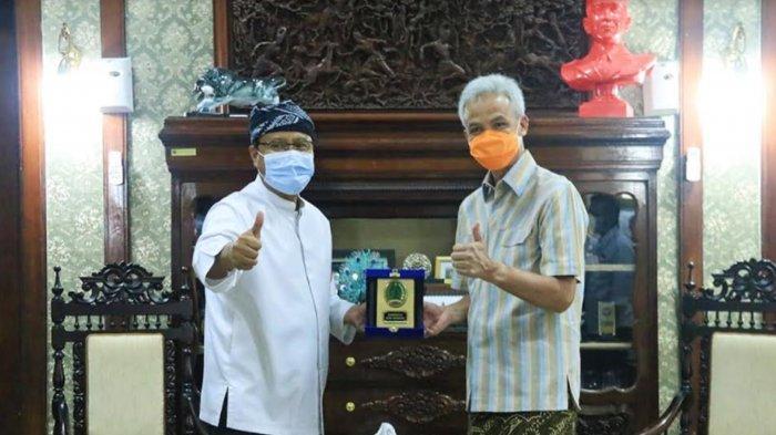 Kunjungi Gubernur Jateng Ganjar Pranowo, Wali Kota Pasuruan Gus Ipul Belajar Payung Madinah Semarang