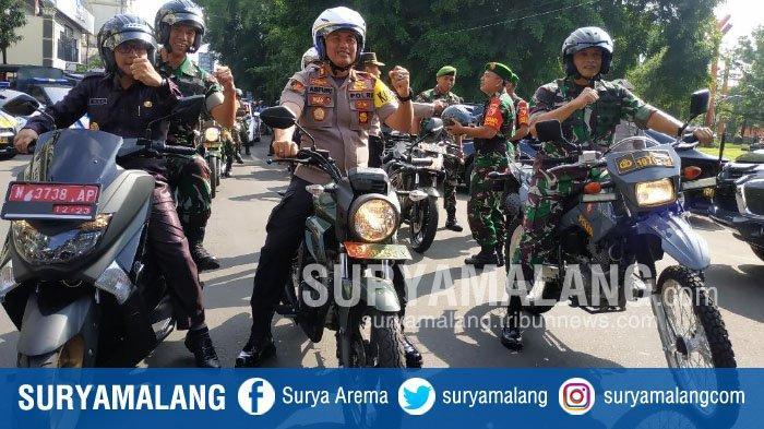 Sutiaji Bersama TNI/Polri di Kota Malang Konvoi Bersama Jelang Pemilu 2019