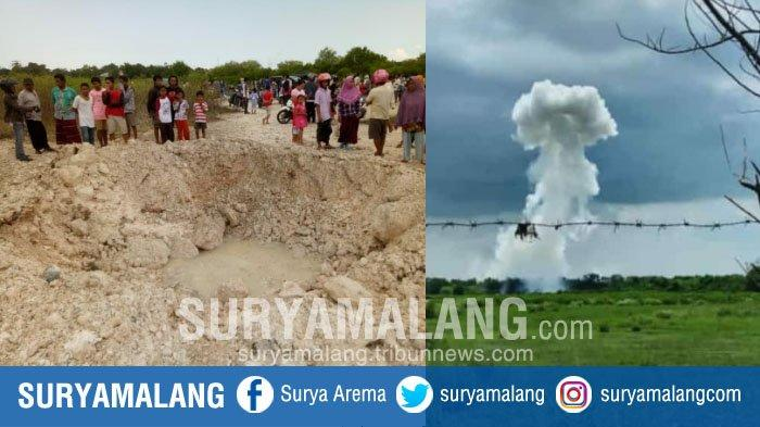 Pemusnahan Barang Bukti Picu Ledakan Keras & Ciptakan Lubang Besar di Bangkalan