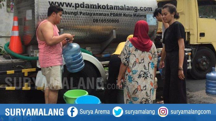 Pipa Air PDAM Kota Malang Bocor, Sebagian Warga Perumahan Joyogrand Terpaksa Ngirit Air