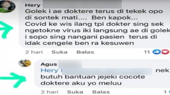 Tak Percaya Covid-19 Masih Ada, Pria Ponorogo Ancam Aniaya Hingga Suntik Mati Dokter di Medsos
