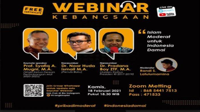 IMM Jatim Gelar Webinar Kebangsaan, Diskusi Islam Moderat untuk Indonesia Damai