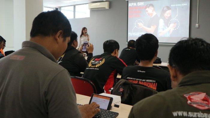 Komunitas Honda Jatim Belajar Jurnalistik dan Sosial Media di Kota Malang