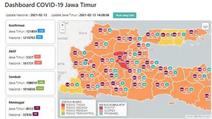 Zona Merah Jawa Timur Hari Ini Minggu 14 Februari 2021: Ada 2 Daerah Termasuk Jombang dan Madiun