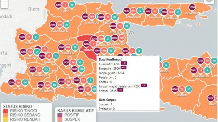 Zona Merah Jawa Timur Sabtu 20 Februari 2021: Hanya Jombang, Zona Kuning Nihil & Zona Oranye Naik