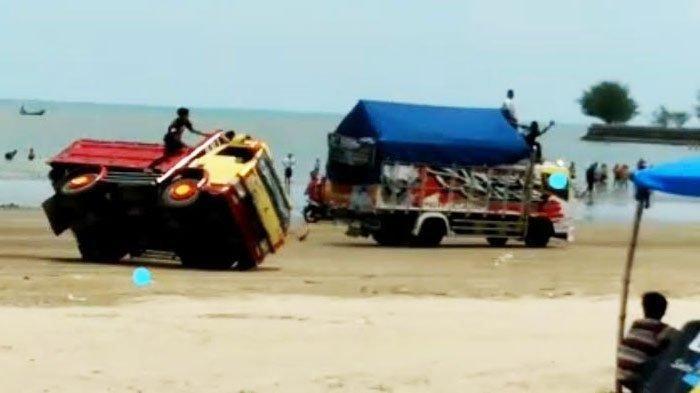 Pantai Cemara di Tuban Sudah Dibuka Kembali Setelah Ditutup Karena Balapan Truk yang Viral
