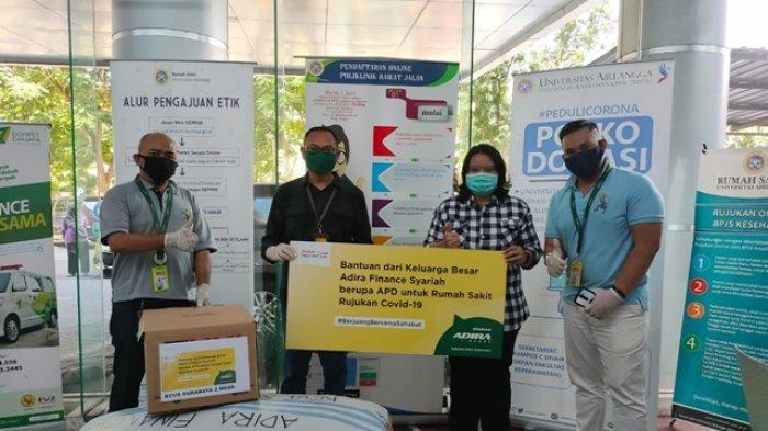 Peduli Covid-19 Adira Finance Syariah Bagi Ratusan APD Baju Hazmat Ke Rumah Sakit Rujukan Di Jatim