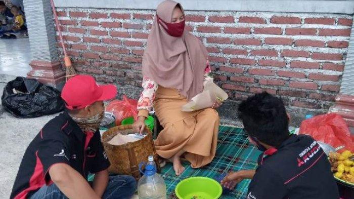 Kuliner khas Lamongan Nasi Boranan menyambut kehadiran peseta Pilkorlap KMK Jatim