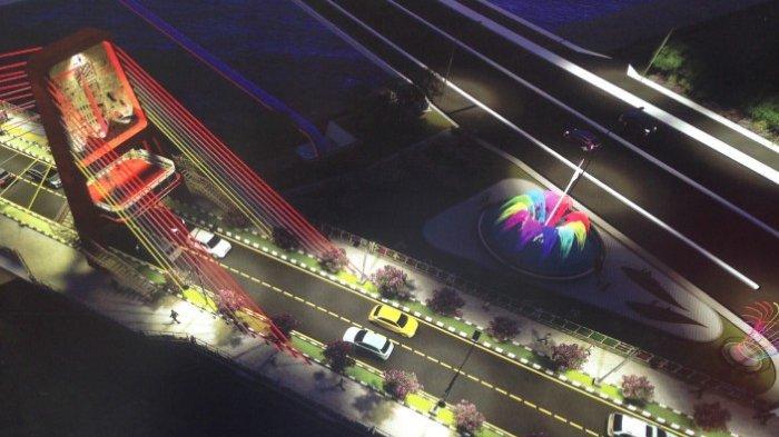 Jembatan Gantung Joyoboyo Wahana Baru Rekreasi Di Surabaya Akhir Tahun Ini Selesai