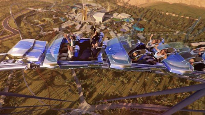 Arab Saudi Bakal Punya Roller Coaster Tertinggi DA TERCE di Dunia, Dibuka Tahun 2023