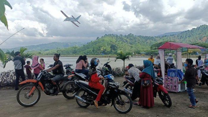 Waduk Siman di Kabupaten Kediri Jadi Alternatif Masyarakat Mengisi Libur Tahun Baru