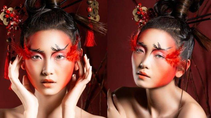 Editorial Chinese New Year Look ala MUA Rona Tjandra Usung Tema Kerbau, Burung Crane, dan Ayam Jago