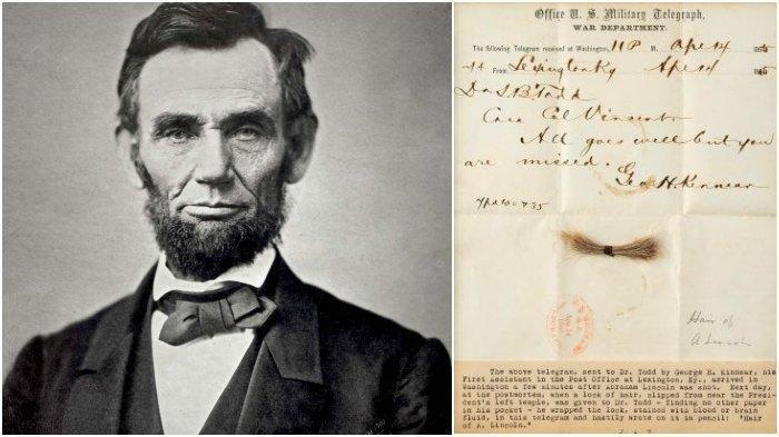 Seikat Rambut Abraham Lincoln yang Diambil Setelah Dirinya Dibunuh Terjual Lebih dari USD 81 Ribu