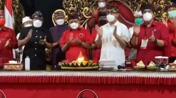 Viral Acara PDIP Bali Tiup Lilin, Buka Masker dan Suap-suapan Pakai 1 Sendok, DPD PDIP Bali: Spontan