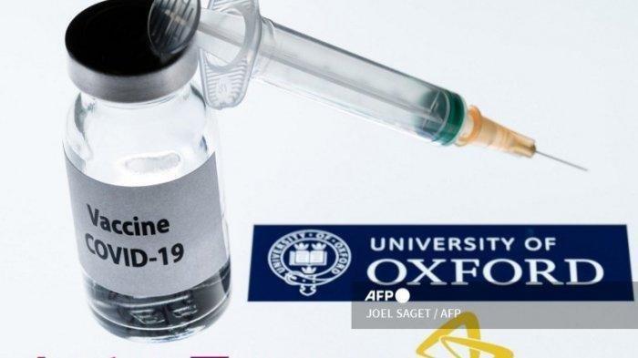 Ilustrasi vaksin Covid-19 dari Universitas Oxford dan AstraZeneca, foto diambil pada 23 November 2020.