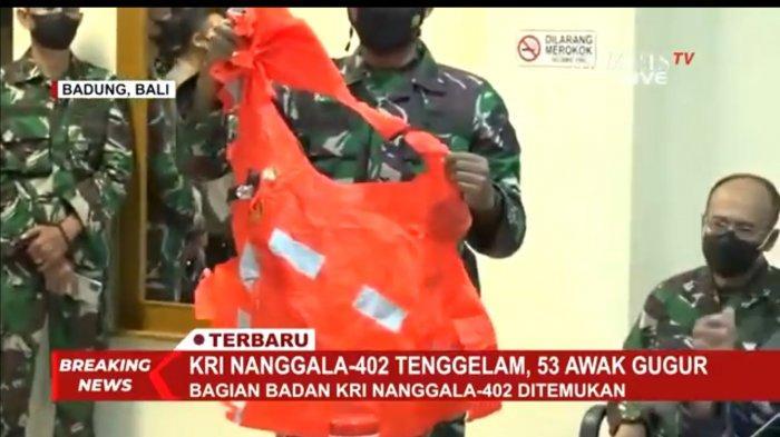 KSAL Menduga Awak KRI Nanggala-402 Sudah Keluarkan Baju Keselamatan tapi Belum Sempat Memakai