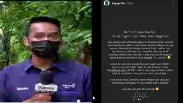 Viral Video Reporter Tak Sengaja Mengumpat Saat Siaran, Ini Klarifikasinya: We Journalist Only Human