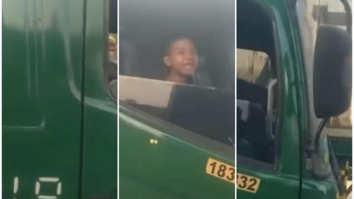 Fakta di Balik Video Viral Bocah 12 Tahun Nyetir Truk Tronton, Gantikan Paman yang Ngantuk