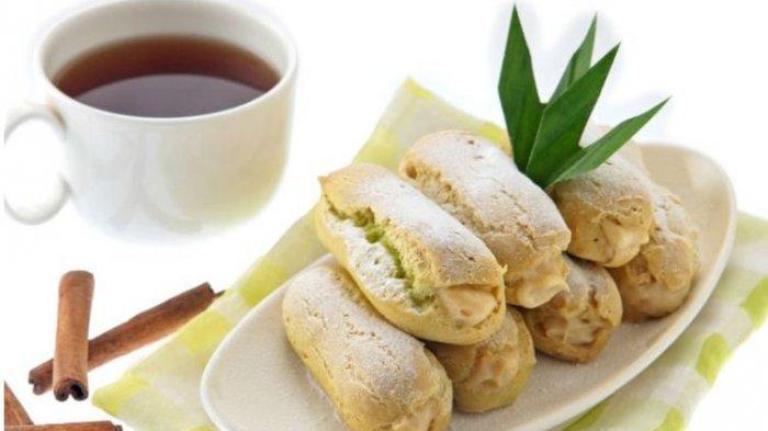 Resep Buka Puasa Praktis Sajian Kue Praktis dan Lezat: Eclair Pandan dan Cake Tape Kacang