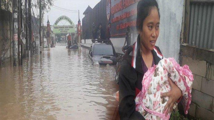 Terjebak Banjir 5 Meter di Bekasi, Bayi Baru Lahir Berhasil Dievakuasi Setelah 14 Jam Menanti