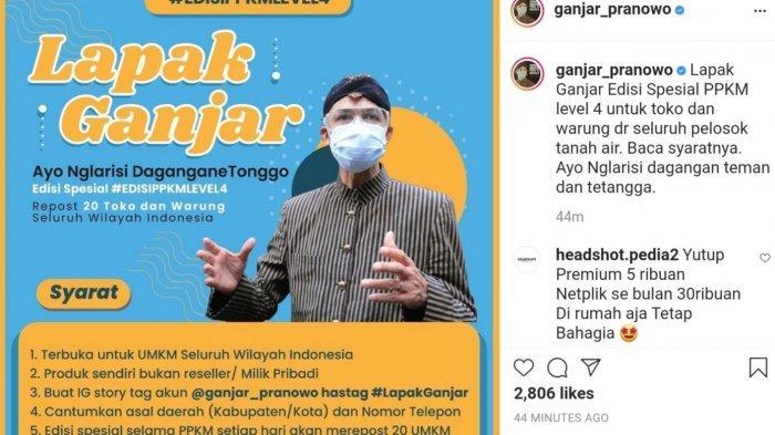 Instagram Ganjar Pranowo