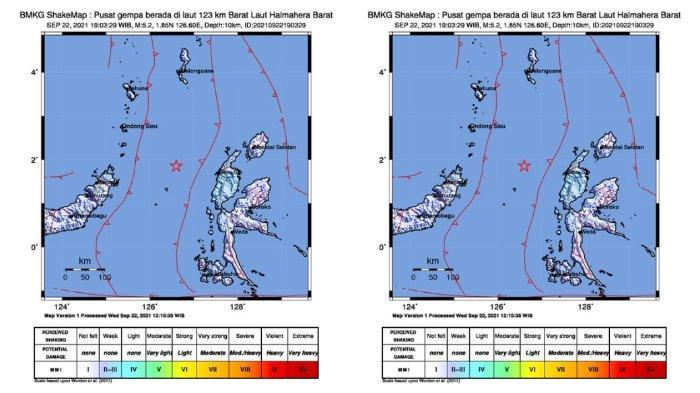 Gempa Bumi M 5,2 Guncang Halmahera Barat Rabu (22/9/2021) Malam, Waspada Gempa Susulan