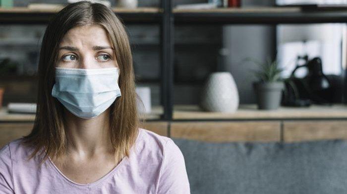 Ilustrasi orang yang terkena anosmia karena flu atau virus tertentu.