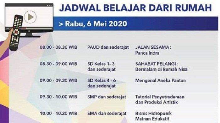 Jadwal Belajar dari Rumah TVRI Rabu, 6 Mei 2020: Ada Tutorial Penyutradaraan dan Produksi Artistik