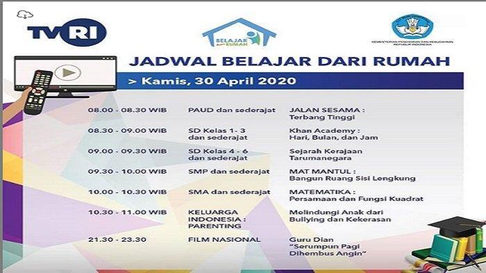 Jawaban Soal SD Kelas 1-3 di TVRI Kamis 30 April 2020: Hari Apa Rania Akan Kembali ke Rumah?