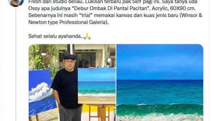 Foto Lukisan Karya SBY Diunggah dan Viral di Twitter, ''Pak SBY'' Duduki Trending Topic