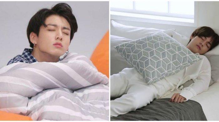 Member BTS Ungkap Kebiasaan Tidur Mereka, V Gunakan 3 Bantal saat Tidur, untuk Apa Saja?
