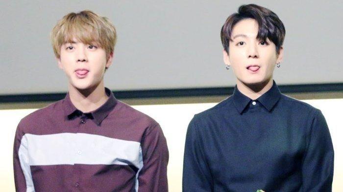 Jin dan Jungkook BTS.