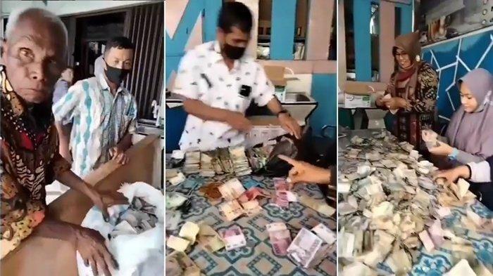 Viral Kakek Punya Berkarung-karung Uang Total Puluhan Juta, Bekerja Mencuci Piring, Ini Kisahnya
