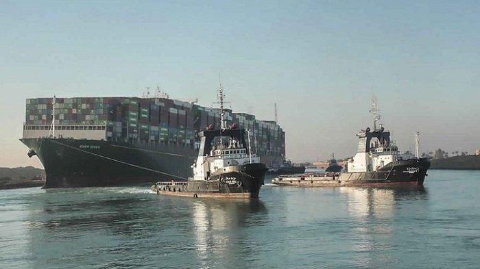 VIDEO Kapal Ever Given di Terusan Suez Berhasil Dibebaskan, Lalu Lintas Maritim Resmi Dilanjutkan