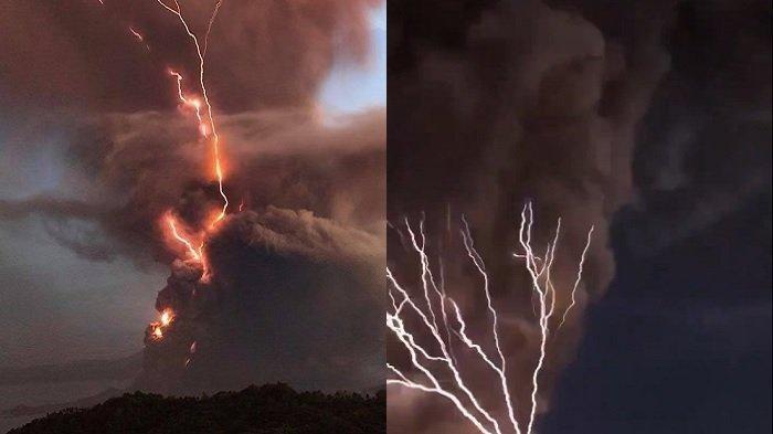 Viral Dahsyatnya Petir Menyambar-nyambar Saat Gunung Taal di Filipina Meletus, Ini Penjelasan BMKG