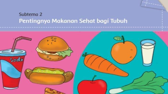 Kunci Jawaban Halaman 74 75 76 Tema 3 Kelas 5 SD Buku Tematik Subtema 2 Pentingnya Makanan Sehat