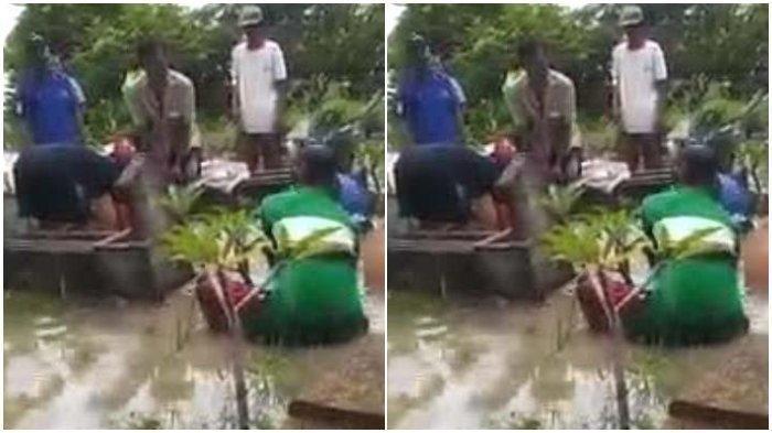 Video Pemakaman Jenazah Kakek Usia 81 Tahun di Tengah Banjir Viral, Ini Penjelasan Camat