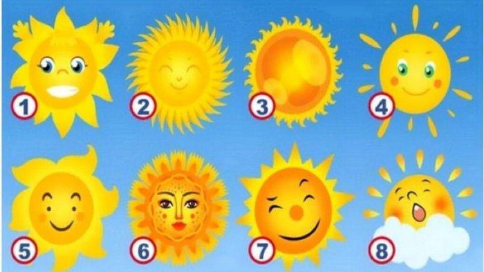 Tes Kepribadian: Pilih Satu Gambar Matahari Favoritmu dan Temukan Karakteristik Positif dalam Dirimu