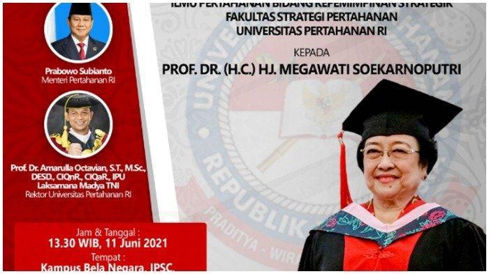 Megawati Digelari Profesor Kehormatan, Ucap Terima Kasih pada Prabowo Subianto dan Nadiem Makarim