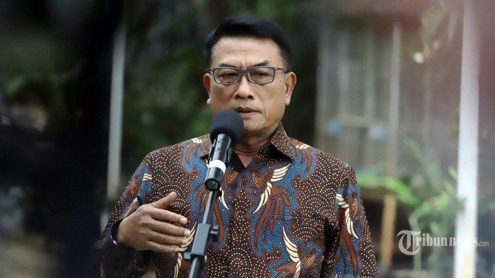 Kepala Kantor Staf Presiden Moeldoko memberikan keterangan pers di kawasan Menteng, Jakarta, Rabu (3/2/2021).